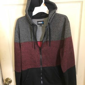 Tony Hawk Boys Hoodie Sherpa Fleece Lined Full Zip
